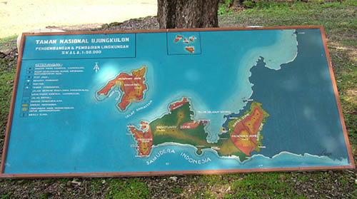 Map of Ujung Kulon National Park